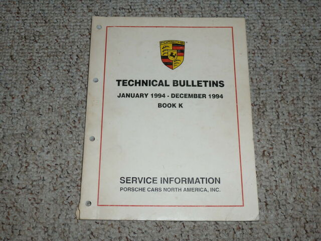 1994 Porsche 928 Gts  U0026 968 Technical Bulletins Shop Repair