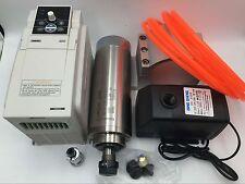2.2KW ER20 Spindle Motor Water Cooled & 3.7KW VFD Inverter&Bracket&Pump/Pipe Kit