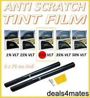 PRO QUALITY DARK SMOKE BLACK 20% CAR WINDOW TINT ROLL 6M x 76CM FILM TINTING