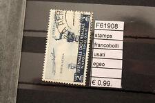 FRANCOBOLLI STAMPS EGEO USATI (F61908)