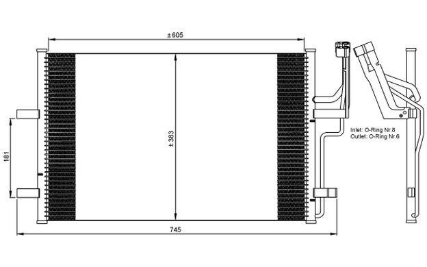 NRF Condensador, aire acondicionado MAZDA 3 35507