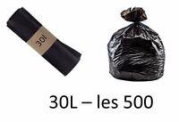 Sac Poubelle Hd 30l Noir - Les 500 Sacs Poubelles