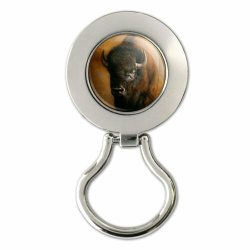 Bison Buffalo on the Praire Field Magnetic Metal Eyeglass ID Badge Holder