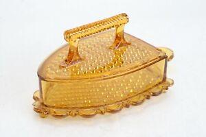LG-Wright-SAD-Amber-Glass-Flat-Iron-Covered-Butter-Candy-Dish