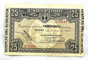 Spain-Guerra-Civil-Billete-25-Pesetas-1937-Bilbao-EBC-XF