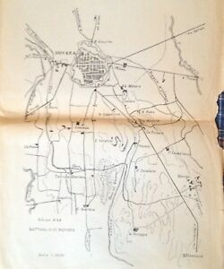 Cartina Italia Novara.Campagna Italiana 1849 Cartina Battaglia Di Novara Ebay