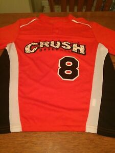 Augusta Sportswear Boys Digi Camo Baseball Softball Henley Jersey T-Shirt 1556
