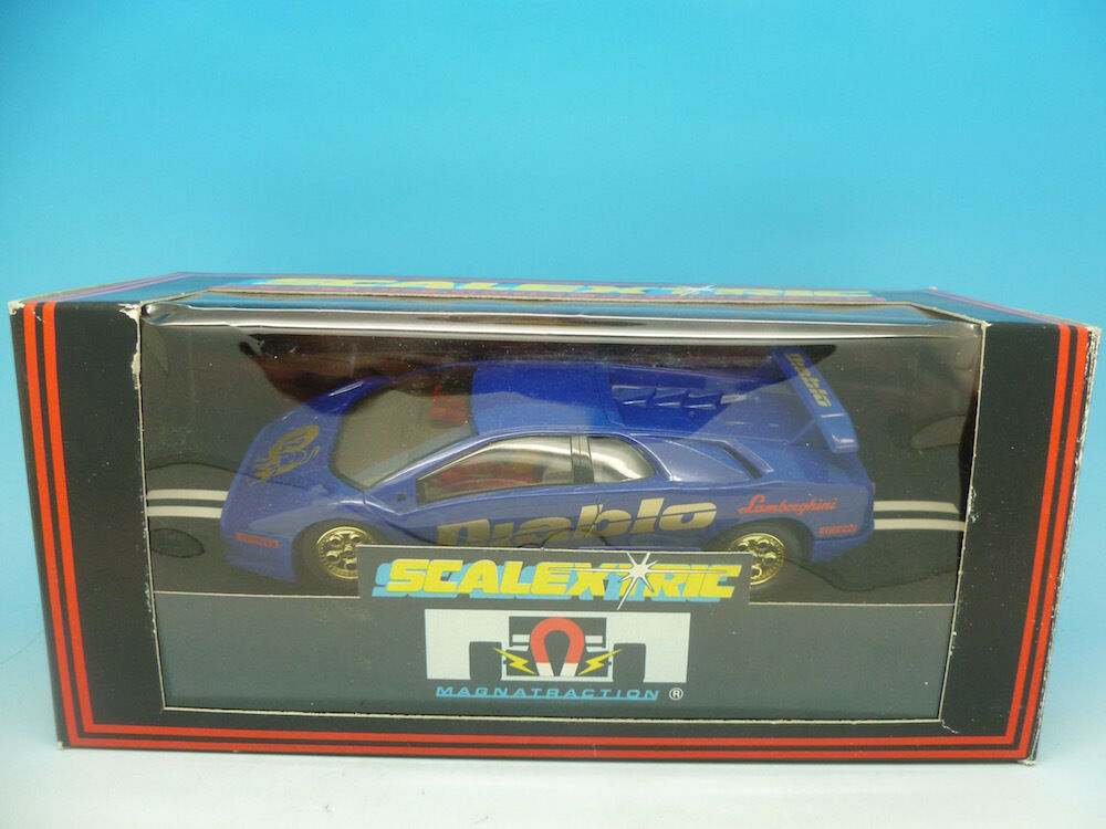 Scalextric C582 Lamborghini Diablo bluee, mint boxed unused