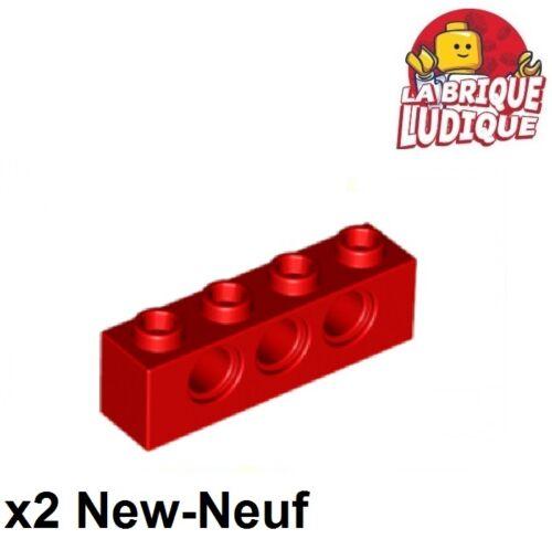 2x Lego Ziegel 1x4 Loch rot/rot 3701 neu LEGO Bausteine & Bauzubehör Lego TECHNIK