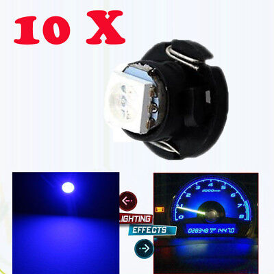 10 x Xenon Blue T5 Neo 4 SMD 12 mm Wedge LED Cluster Instrument Base Light Lamps
