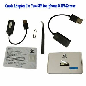 Details about Double SIMHUB Dual SIM Cards Adapter Use Two SIM for iphone5  6 7 Plus 8 X XS Max