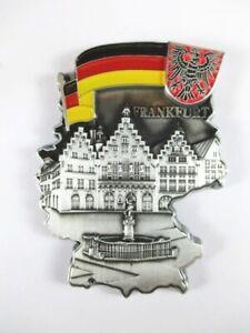 Hamburg Landungsbrücken Metall Magnet Souvenir Germany Landkarte,Neu