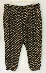 Women-039-s-Zumba-Wear-Hip-Hop-Honey-Pants-NWT-Black-and-Gold-Size-XXL-Drawstring