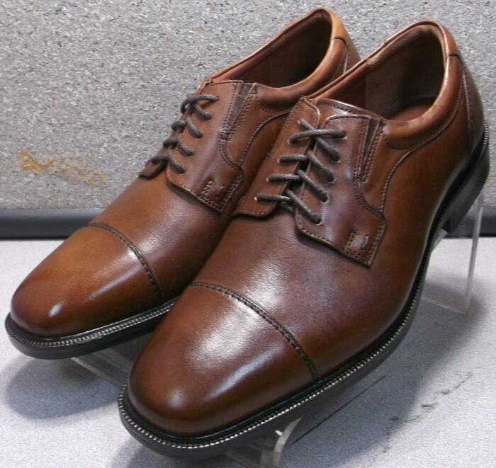 208753 DF50 Men's Shoes Size 8 M Brown Leather Lace Up Johnston & Murphy