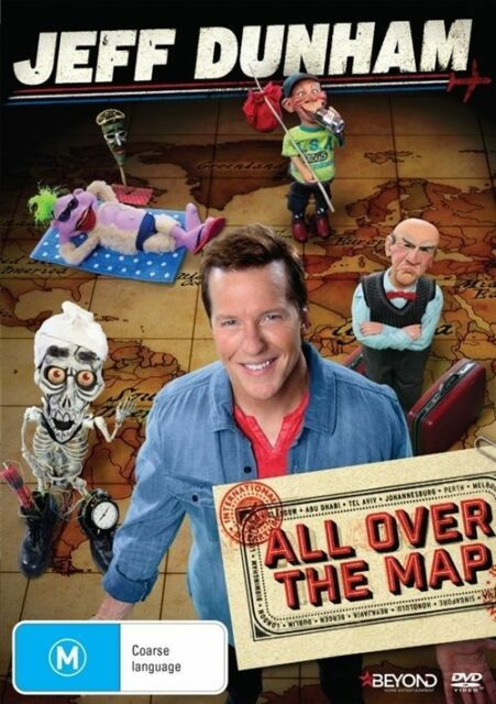 Jeff Dunham - All Over The Map (DVD, 2015) New Sealed Region 4