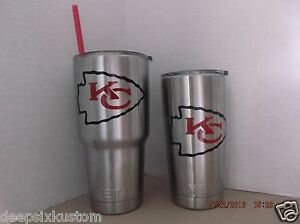 Kansas City Chiefs Decal Sticker For Tumbler Rambler Beer
