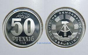 DDR-50-Pfennig-PP-Polierte-Platte-1982-1989-Jahr-zur-Auswahl