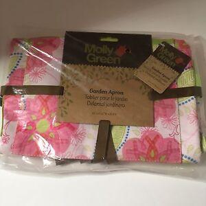 NEW-Molly-Green-Ribbons-Of-Courage-Women-039-s-Floral-Garden-Apron-Lori-Siebert