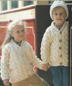 759eac4d04c Details about Baby Aran Cardigan, Jacket and Hat Knitting Pattern 20-28