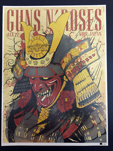 Guns-N-039-Roses-Kobe-Japan-Lithograph-Poster-Not-In-This-Lifetime-Tour-2017