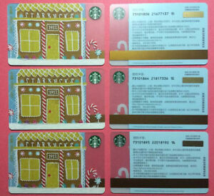 CS1658-2016-China-Starbucks-coffee-Gingerbread-Pike-Place-Gift-cards-3pcs