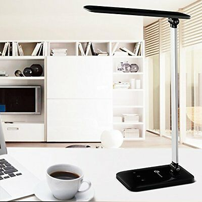 Dimmable LED Desk Lamp Flexible Arm Night Light Black Desk Table Office Home