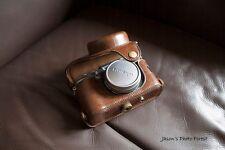 PU Leather Full Camera Case bag cover for FUJI X100F X100T X100S Brown + strap