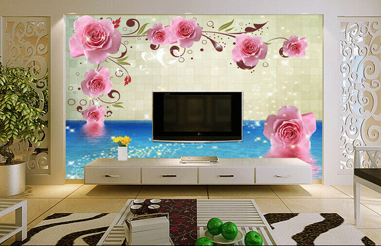 3D Glänzende pink pinkn 214 Fototapeten Wandbild Fototapete BildTapete Familie