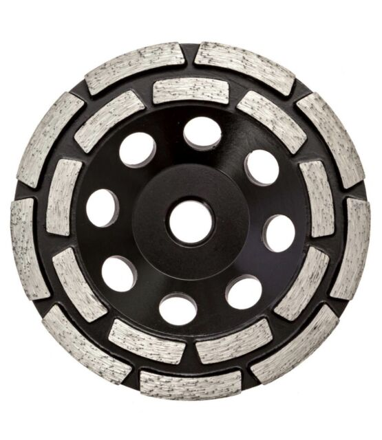 Thinset Removal Bit 4 5 Double Row Diamond Grinding Cup Black For Sale Online Ebay