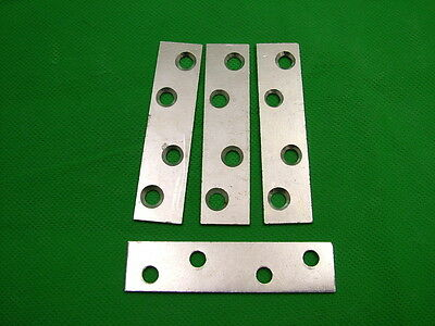 """Droite SUPPORT fixant pack de 4 Zinc Plaqué 3/"""" Réparation Plaque Bracelet 76 x18.5mm"""
