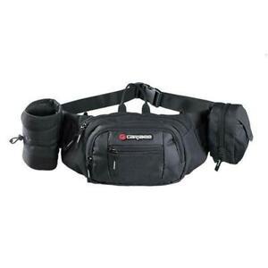 Caribee-Road-Runner-Hydration-Belt-Bum-Bag-Water-Bottle-Waist-Hiking-Biker-Black