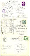 NEDERLAND  S.M.N. 1930/47 3 x PPC SHIP = S.S. JOHAN DE WITT= POSTAGENT  F/VF