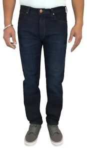 Details about Wrangler New Arizona Straight Fit Stretch Jeans New Mens Indigo Denim Nights