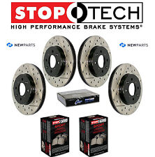 Front & Rear StopTech Drilled Slotted Brake Rotors Sport Pads For Infiniti G37