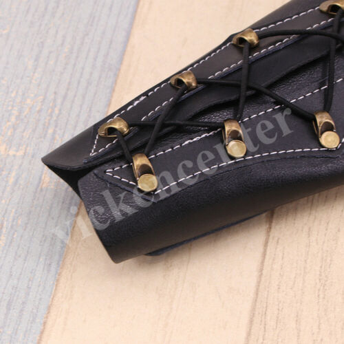 Archery Arm Guard Traditional Leather Bracer for Longbow /& Recurve Bow