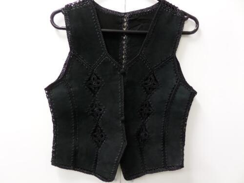 Crochet Waistcoat Vintage Ladies nero vintage 32 crochet Black donna 32 Gilet Z0w6q6