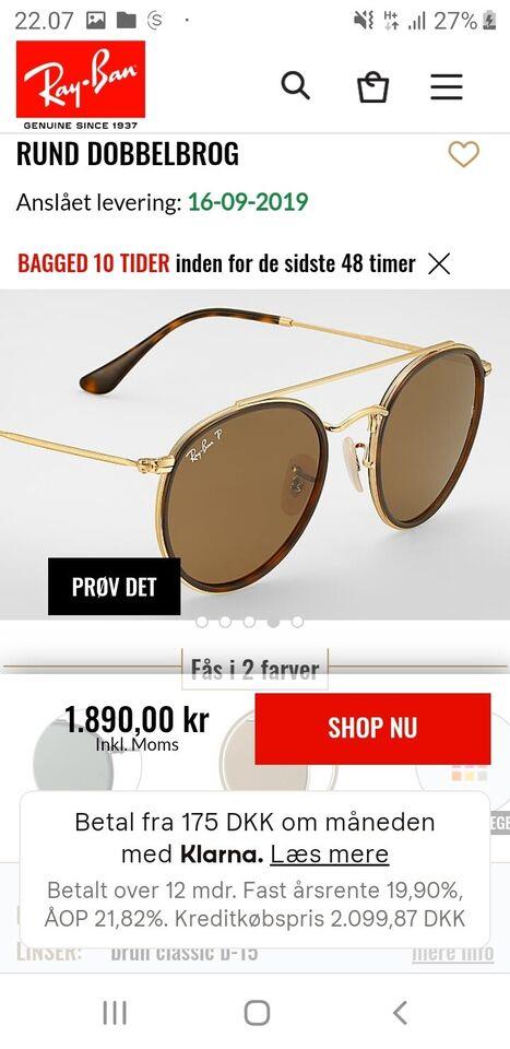 Solbriller unisex, Rayban RB3647-N