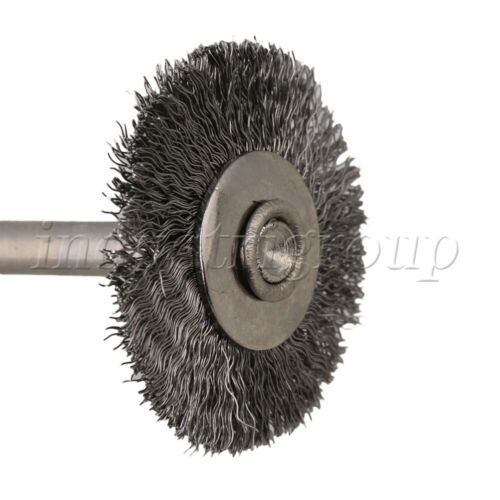 """5Pcs Stainless Steel Miniature Wire Brush 1//8/"""" Arbor For Rotary Tools"""