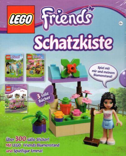 LEGO Baukästen & Sets LEGO 5004293-Friends Schatzkiste-Emma mit Blumestand-Lesebücher-300 Sticker-neu LEGO Bau- & Konstruktionsspielzeug