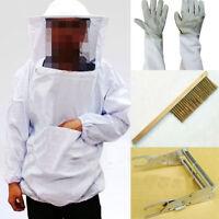 Beekeeping Veil Suit Smock + Hive Frame Holder + Gloves + Bee Brush Tool Kit