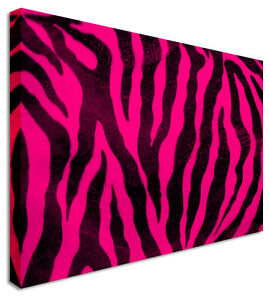 Image Is Loading Hot Pink Zebra Print Canvas Wall Art Printed