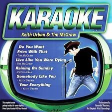 FREE US SHIP. on ANY 2 CDs! NEW CD : Karaoke: Keith Urban / Tim Mcgraw Karaoke
