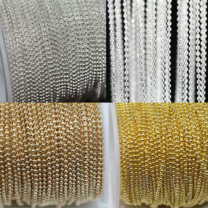 2-5M-Silver-Gold-Metal-Round-Ball-Bead-Chain-For-Necklace-Jewelry-Findings-1-0MM