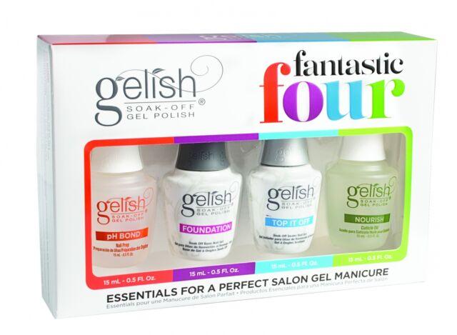 Gelish Fantastic Four Essentials Collection 15ml Soak Off Gel Nail Polish Kit 4 Pack For Sale Online Ebay