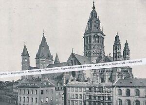 Mainz - Der Dom und die Altstadt - um 1925   P 23-12