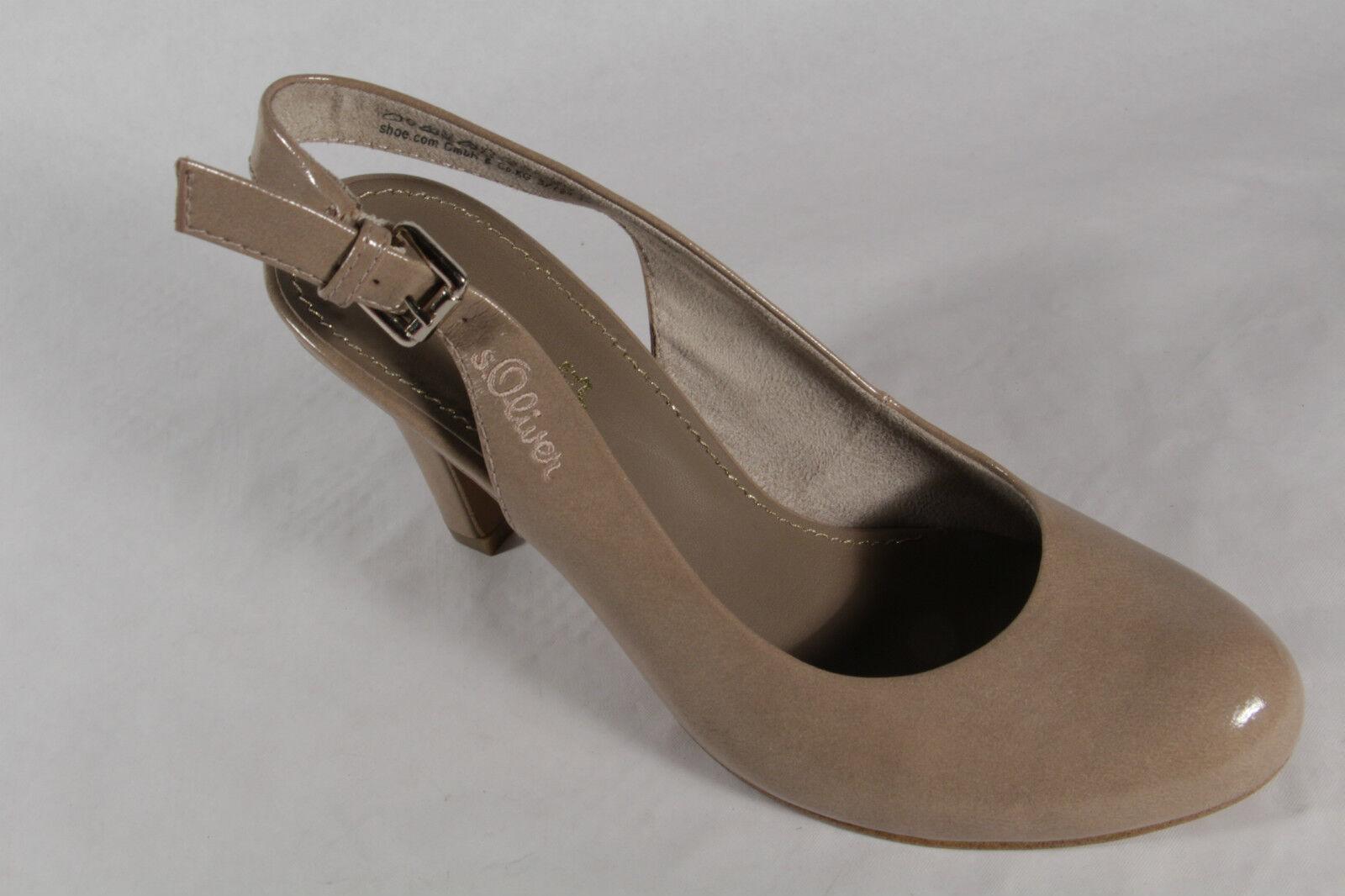 S.Oliver Sling Sandal, Sandal, Sandal, Sand Beige, Leather Insole Deck NEW acc7cb