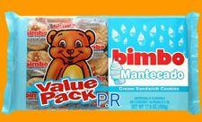 Bimbo Mantecado Cream Sandwich Cookies Galletas Candy Sweets Puerto Rico 1pack