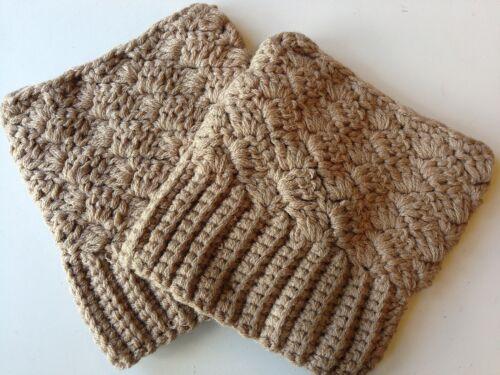 USA Seller Boot Cuffs Crochet Wear 2 Ways New 7 Colors Socks Topper Leg Warmer