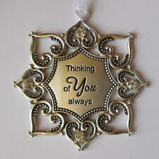 o Thinking of you Always Loving Thoughts ORNAMENT crystal Ganz loss loved one