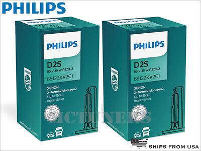 150/% D2S HID Xenon Bulbs Set of Two 85122XV2C1 Philips Xenon X-TremeVision Gen2
